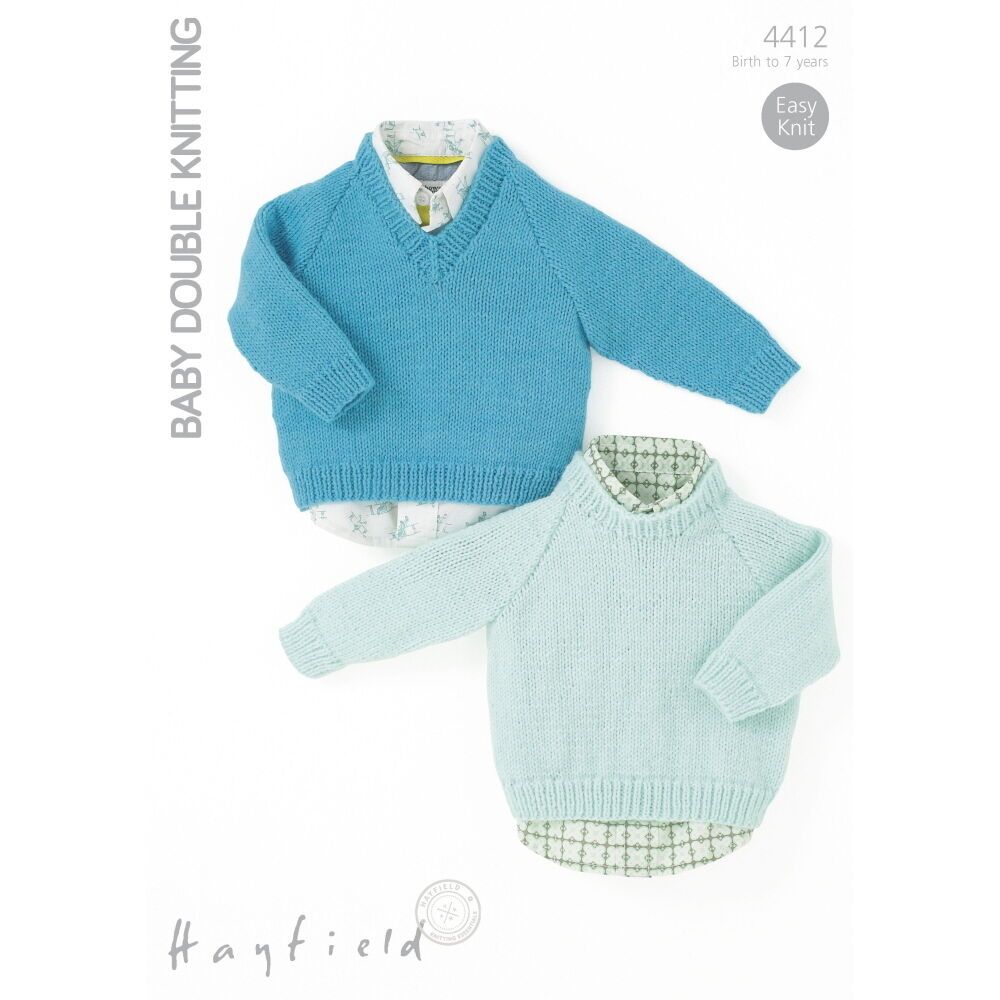 Hayfield Knitting Patterns For Babies : Sirdar Boys Knitting Pattern - 4412 - Sweaters - Hayfield Baby DK eBay