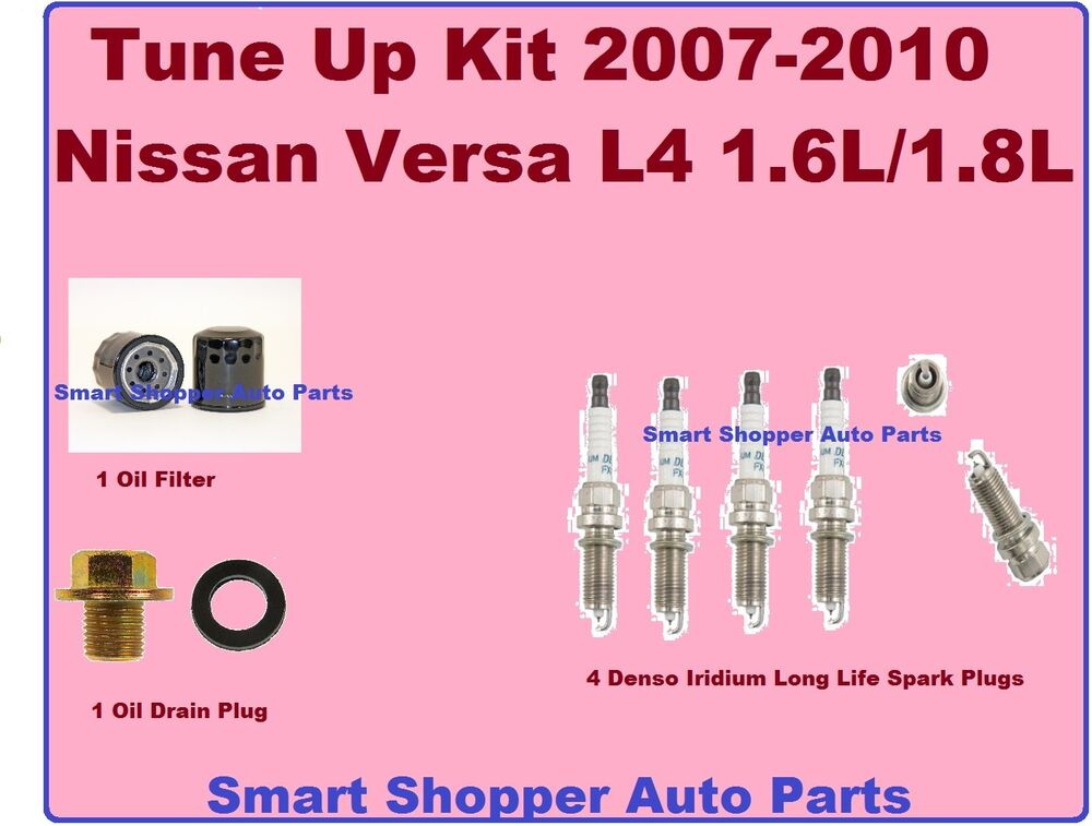 Tune Up For 07-11 Nissan Versa Spark Plug, Oil Filter, Oil ...
