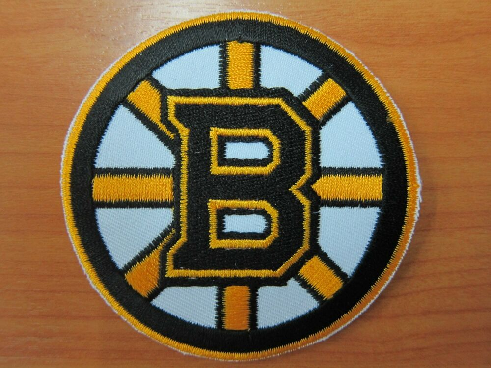 Nhl boston bruins logo embroidered iron on patch high