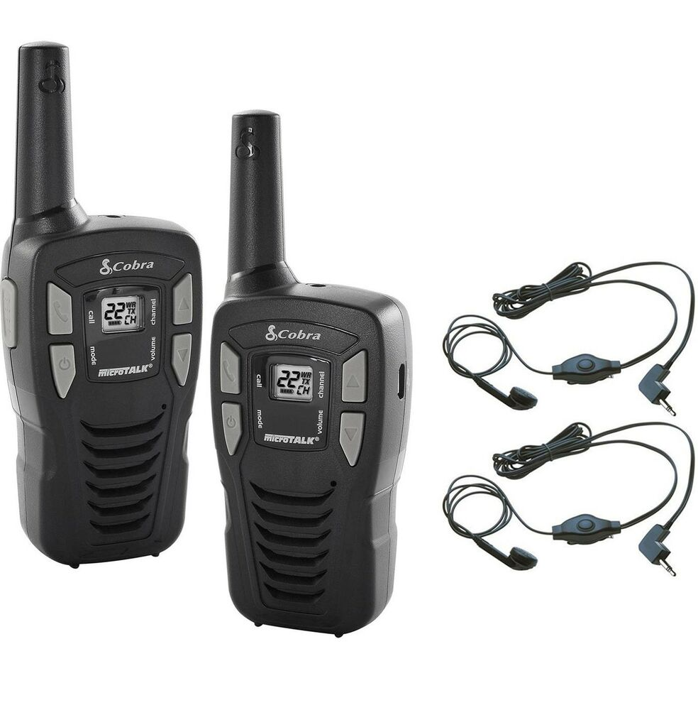 2 cobra cx112 16 mile 22 ch frs gmrs walkie talkie two. Black Bedroom Furniture Sets. Home Design Ideas