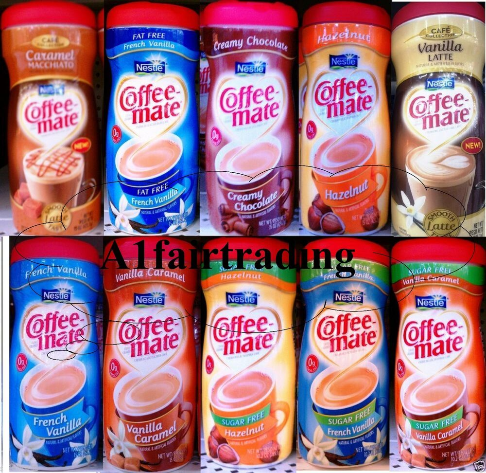 Nestle Coffee Mate 1 cans 15oz Powder Creamer many Flavors ...