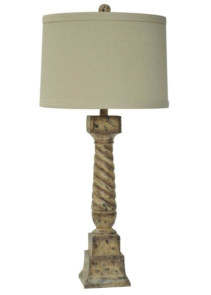 french regent post table lamp shabby cottage chic distressed antique. Black Bedroom Furniture Sets. Home Design Ideas