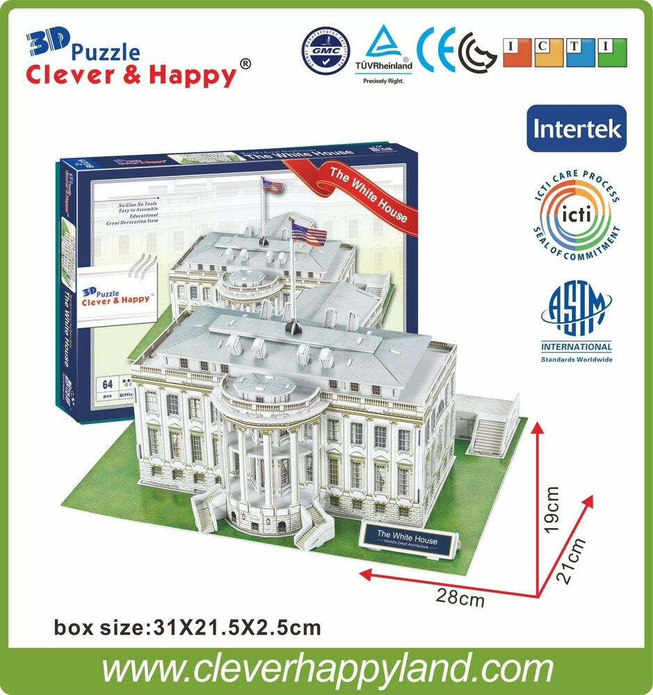 Clever Happy 3d Puzzle Model The White House Educational
