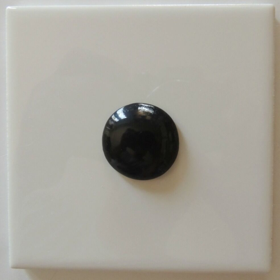 Black Ceramic Buttons Mosaic Decorative Black Tile