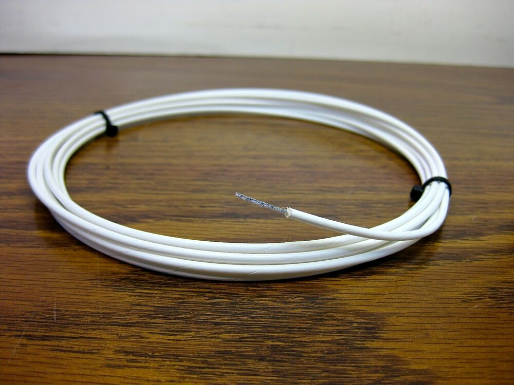 High Voltage Wire 14 Awg Stranded : High voltage corona resistant silver ptfe awg wire