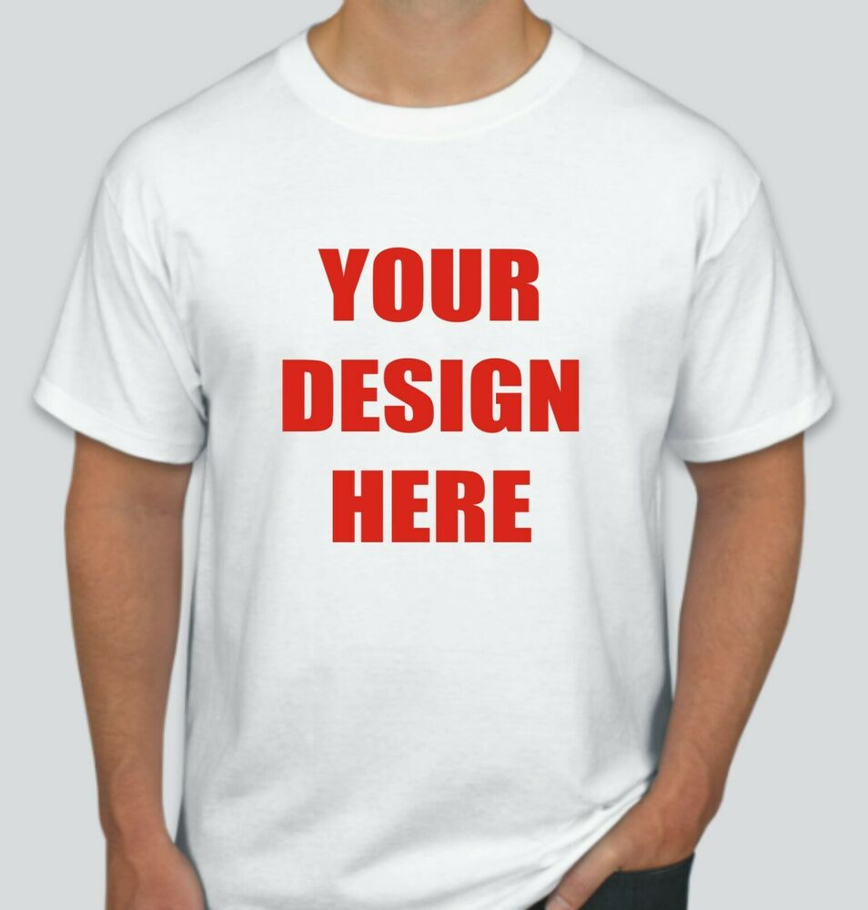 75 custom screen printed white t shirts each ebay for Personalized screen printed t shirts