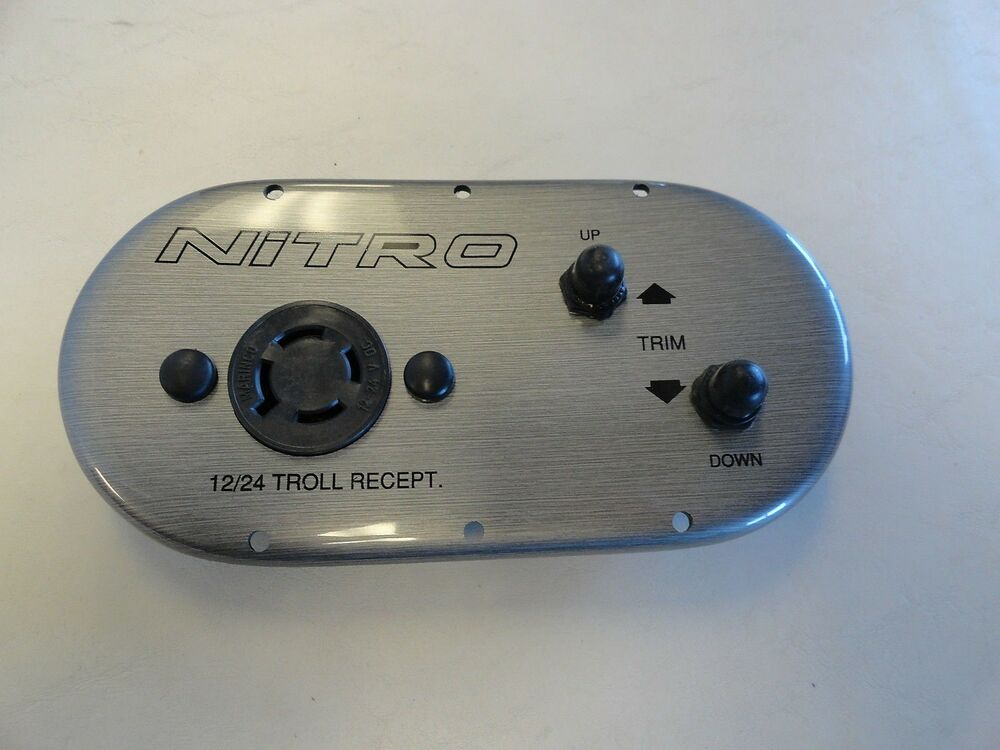 Tracker nitro trolling motor switch panel silver 8 x 4 for Tracker outboard motor parts