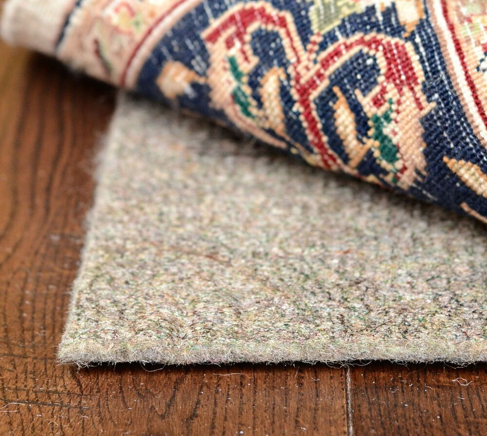 Eco Fiber Natural Felt Rug Pad Rectangle Sizes 1 4
