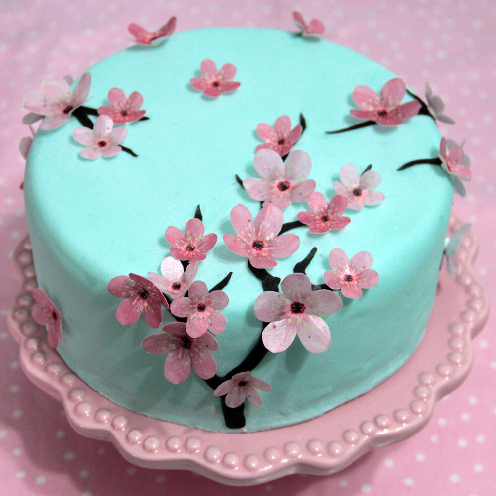 Japanese Cherry Blossom Birthday Cake