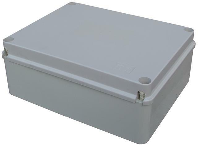 Pvc adaptable ip56 junction box 300 x 220 x 120mm outdoor waterproof enclosure ebay for Exterior electrical outlet box