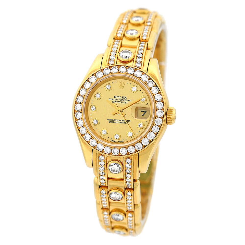 rolex 18k yellow gold masterpiece pearlmaster factory. Black Bedroom Furniture Sets. Home Design Ideas