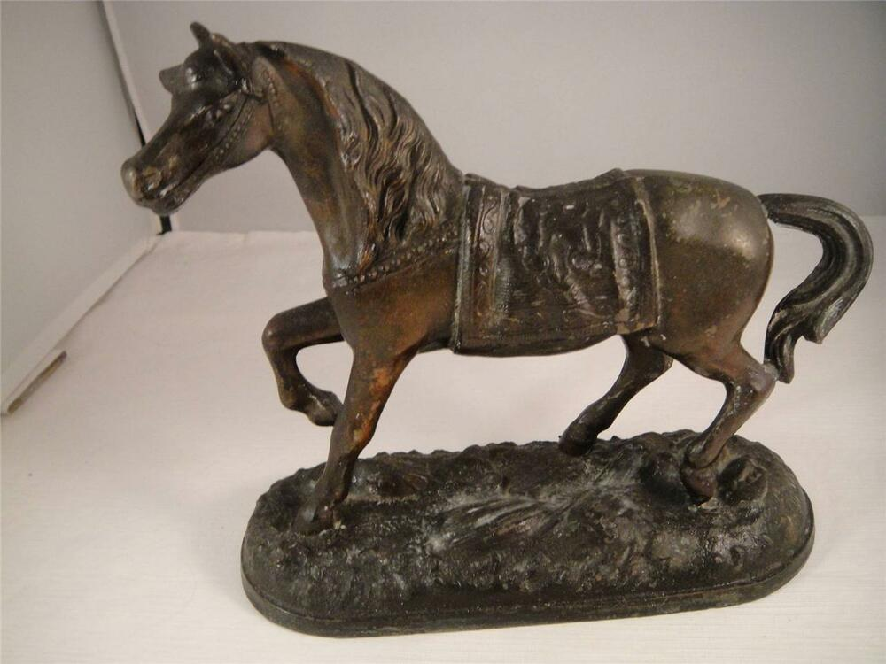 antique art nouveau bronze horse statue sculpture. Black Bedroom Furniture Sets. Home Design Ideas