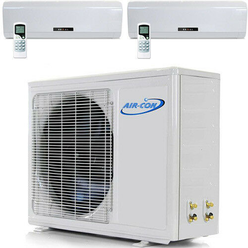 Dual Zone Ductless Mini Split Air Conditioner AC - 9000 + 18000 - Heat Pump 2 | eBay