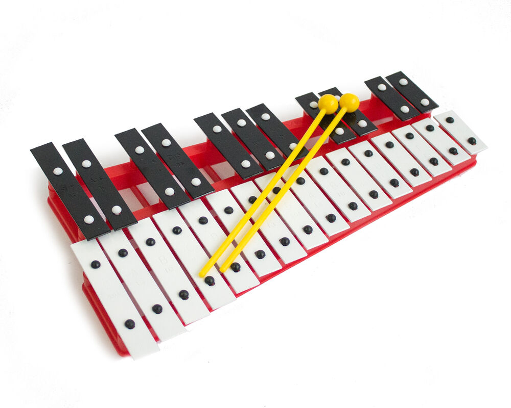 Professional CHROMATIC GLOCKENSPIEL Xylophone with Beaters & Metal Keys - Red | eBay