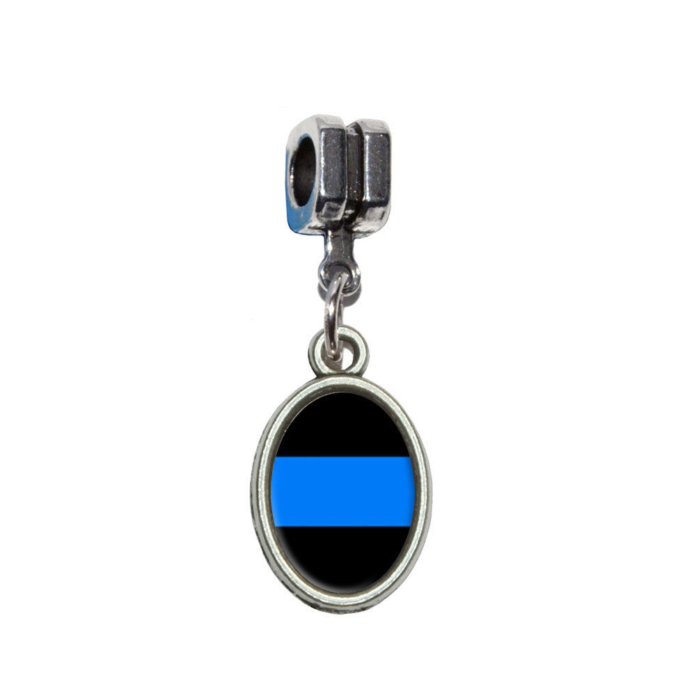 thin blue line police italian european style bracelet. Black Bedroom Furniture Sets. Home Design Ideas
