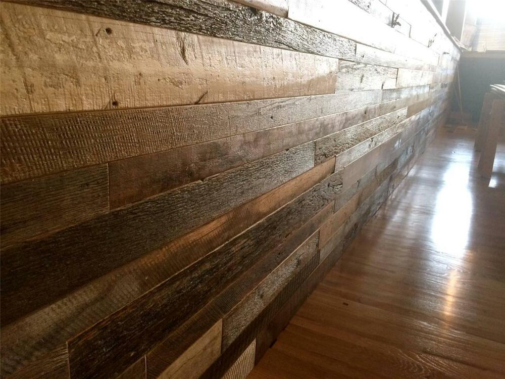 Pre finished reclaimed barnwood paneling barn wood vintage for Barnwood panelling