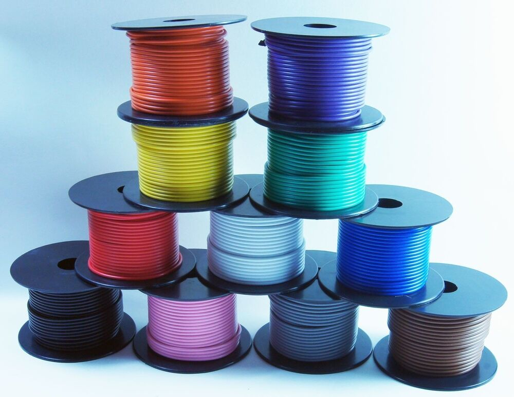 Parallel Wire Red And Black : Colors spools ft gauge blue black red