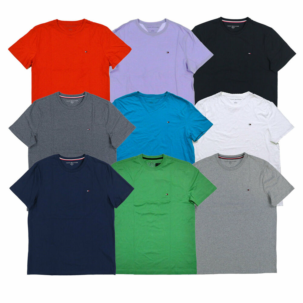 Tommy Hilfiger T Shirt Mens Crew Neck Tee Classic Fit
