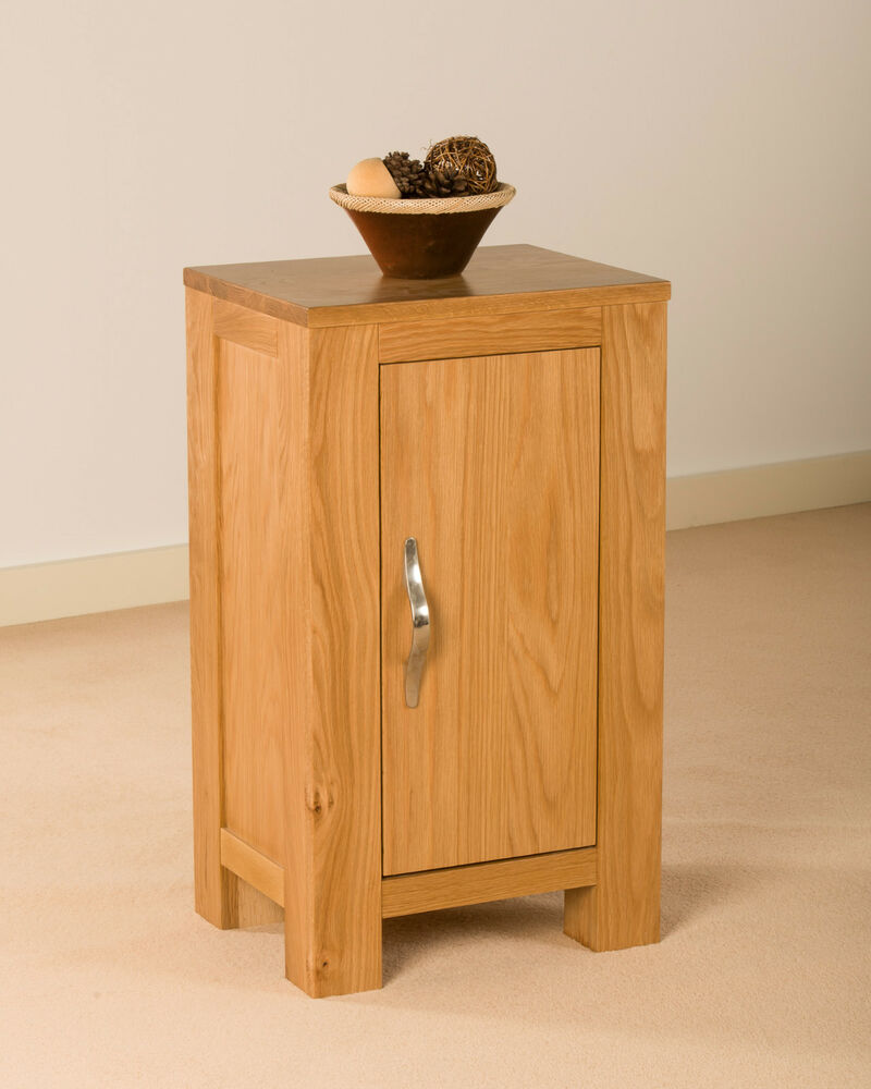 Hampton solid oak small compact one door cupboard cabinet for 1 door cabinet