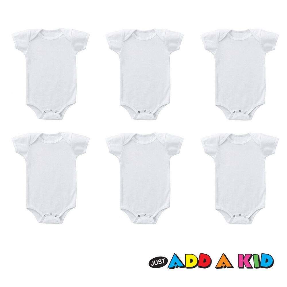 6 pack new schonfeld baby toddler plain 100 cotton 3