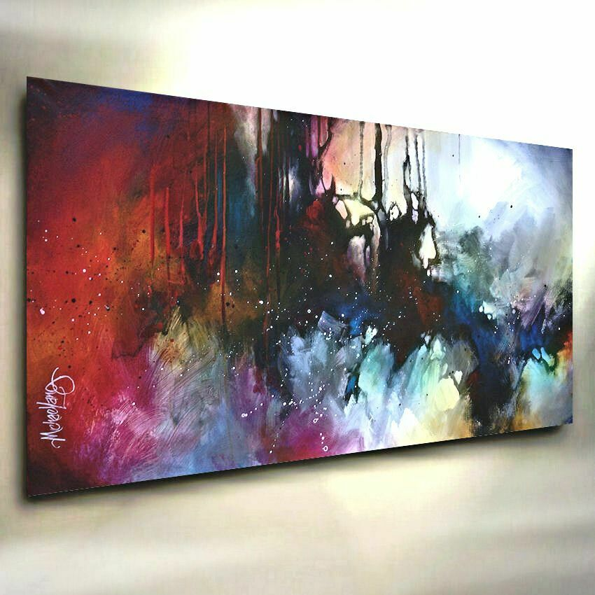 Abstract art modern contemporary giclee canvas print of a for Modern oil painting ideas