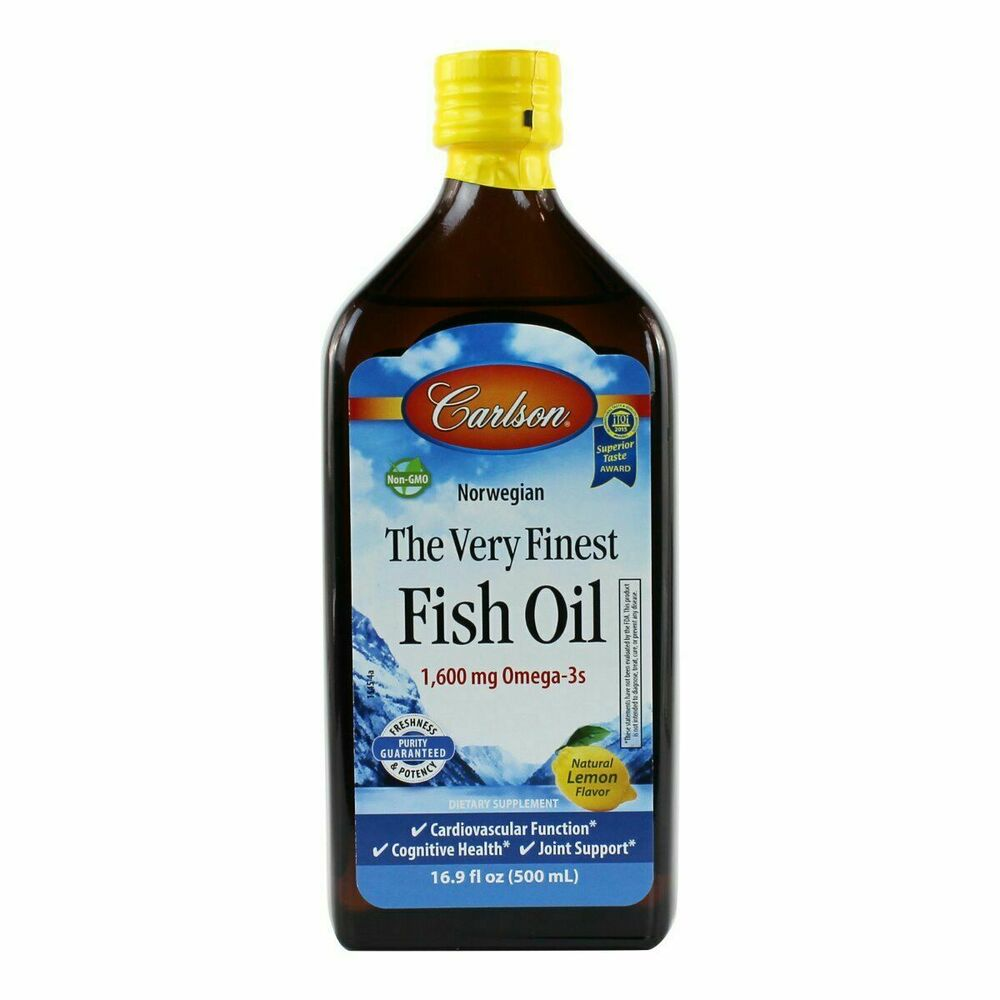 Carlson Very Finest Liquid Omega 3 Norwegian Fish Oil Epa