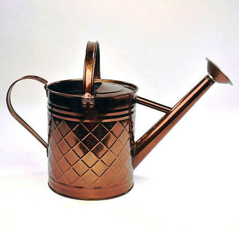 Antique Copper Watering Can Garden Yard Watering