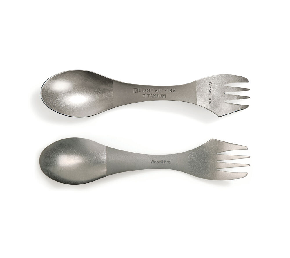 Titanium Spork Set Of Two Ultralight Metal Sporks Light