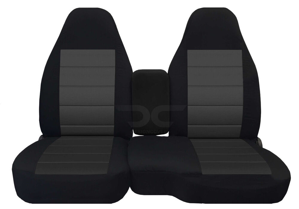 A 98 03 FORD RANGER 60 40 Highback Seat Black Charcoal