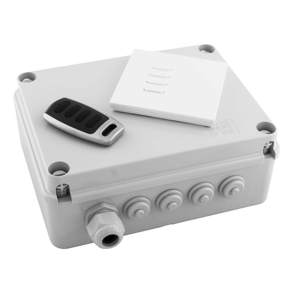 Wisebox 4 Channel Remote Outdoor Switching Box With Switch