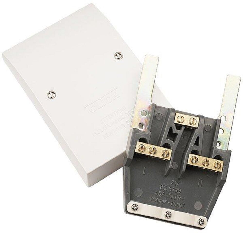 cooker outlet plate electrical fittings cooker connection unit prw217 appliance dual outlet plate 45a fantastic price