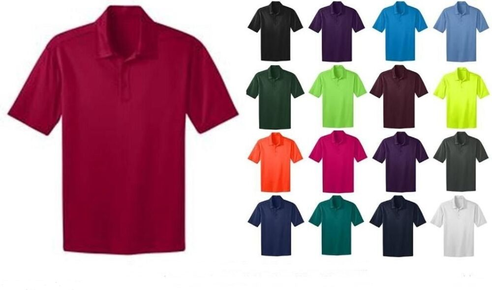 Port authority mens silk touch dri fit polo shirt new size for Maroon dri fit polo shirt