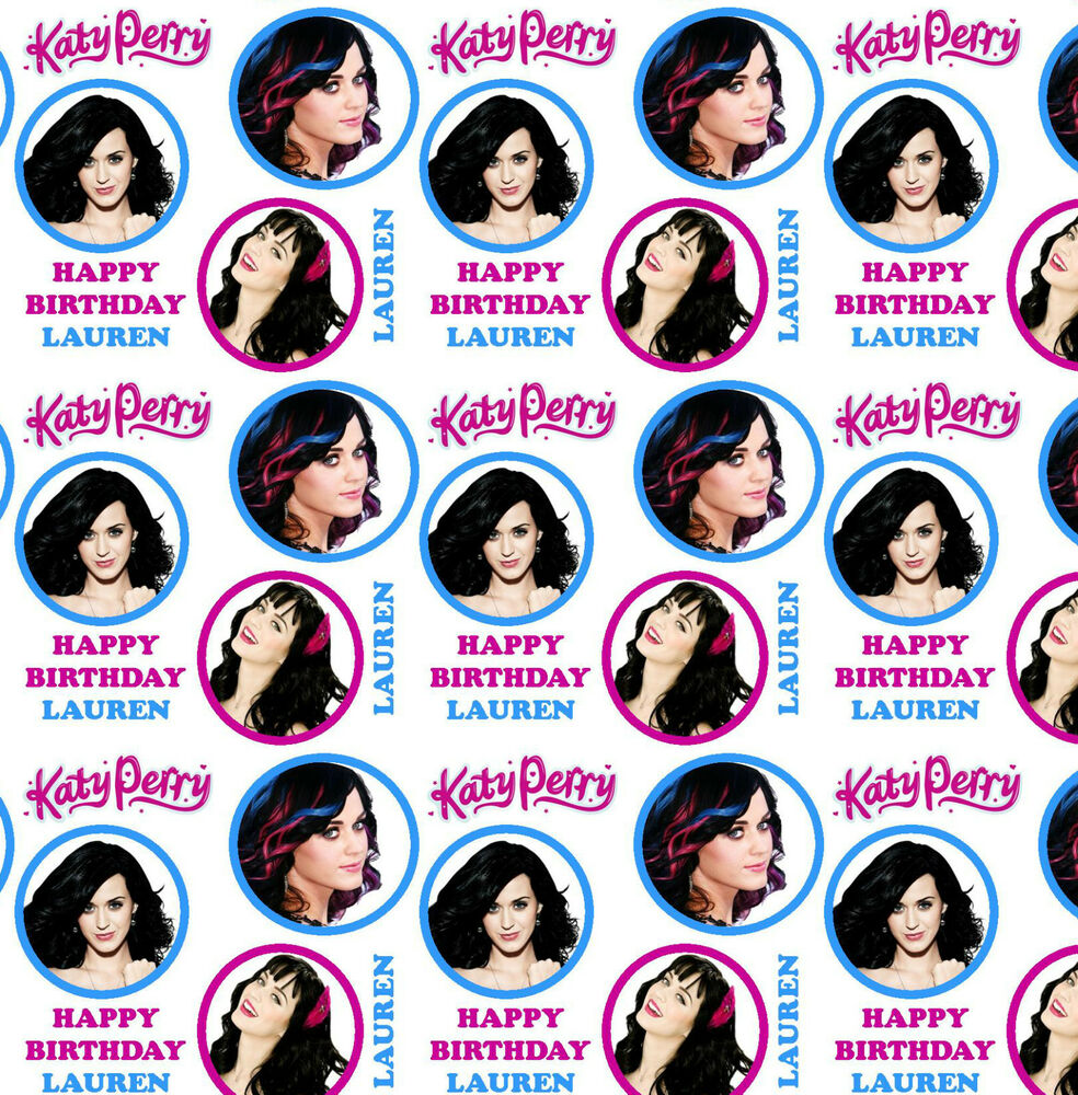 Personalised Gift Wrapping Paper Katy Perry Birthday Large sheet ...
