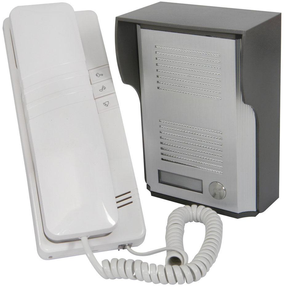 2 wire door phone entry intercom system buzz ring for Door intercom