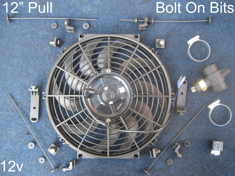 First Electric Fan : Quot electric cooling radiator fan kit triumph tr gt