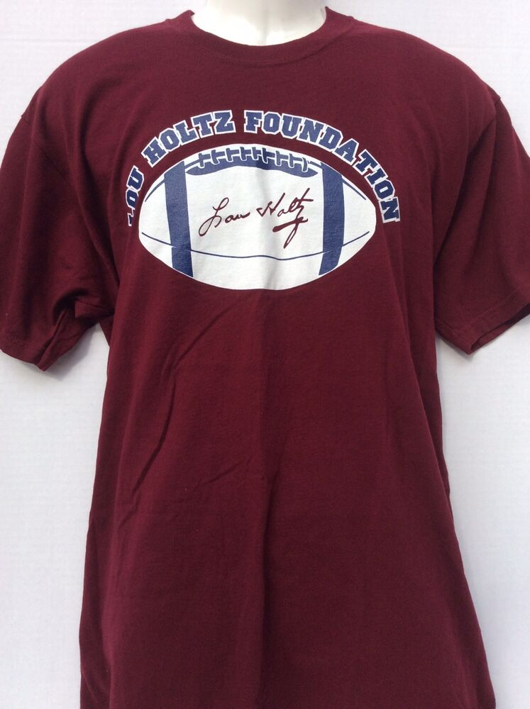 Notre dame football lou holtz foundation college football for Notre dame tee shirts