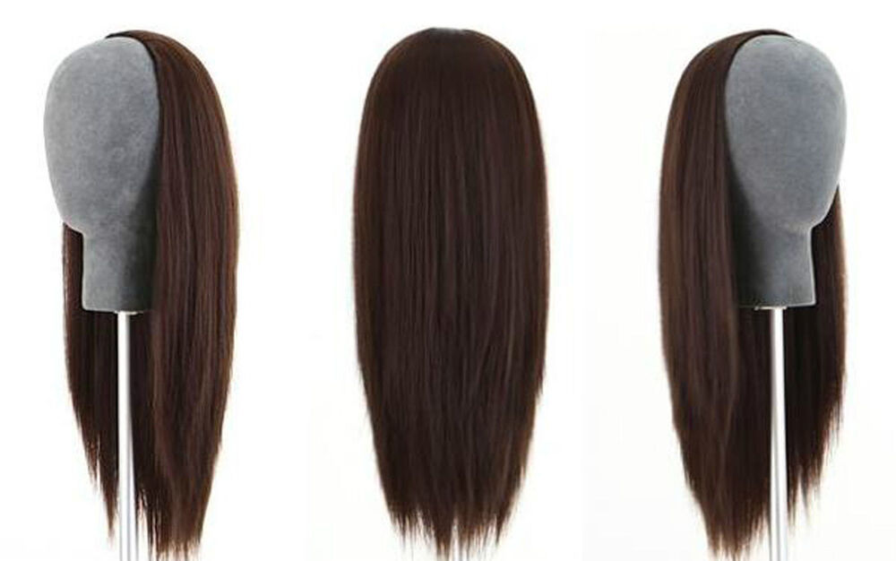 Machine Weft Cap Indian Remy Human Hair Glueless 3/4 Half