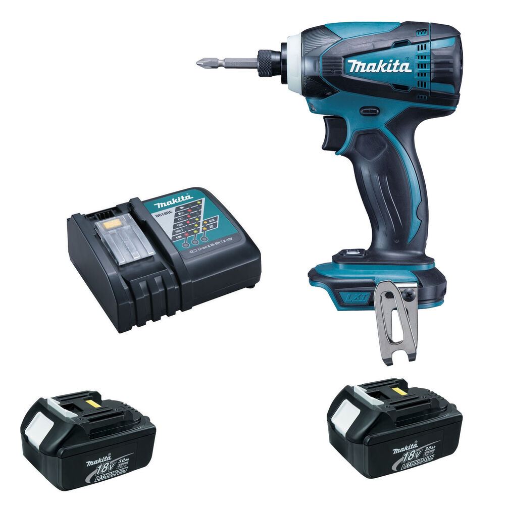 makita 18v dtd146 dtd146z impact driver 2 x bl1830. Black Bedroom Furniture Sets. Home Design Ideas