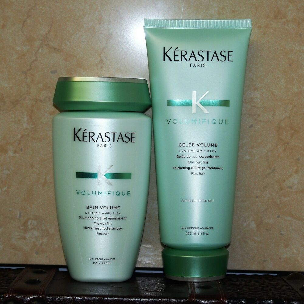 Kerastase volumifique bain and gelee conditioner for Kerastase bain miroir conditioner