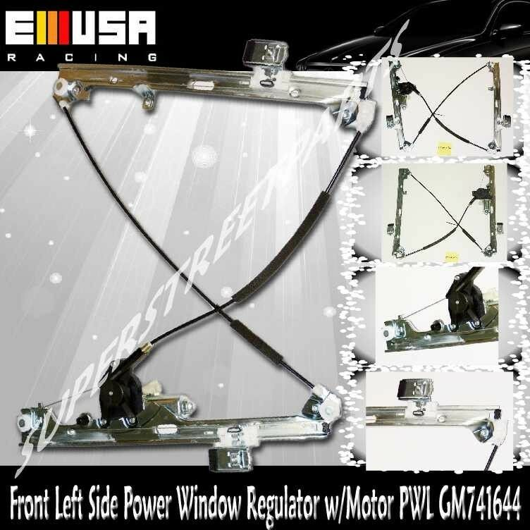 Front driver side power window regulator w motor for 00 06 for 2000 silverado window regulator