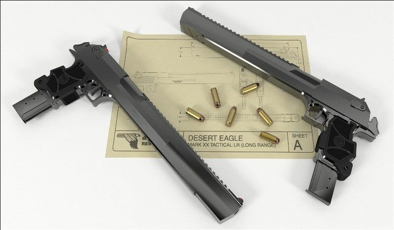 Gun Series 4 Desert Eagle Deagle Airsoft Display Counter