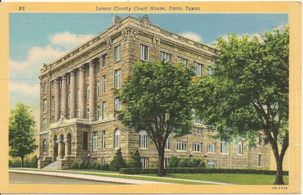 Lamar County Court House Paris TX Postcard | eBay