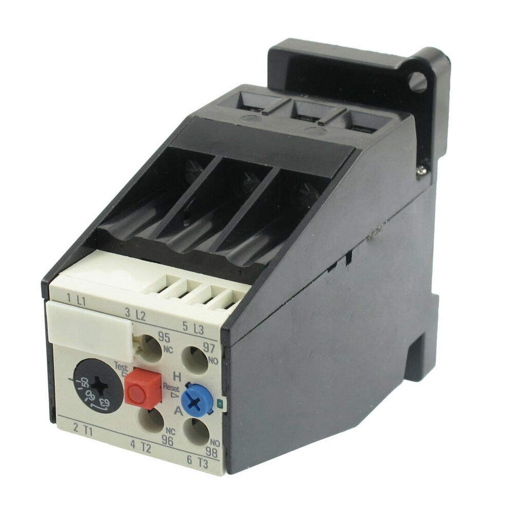 Ac 50a 63a motor protection thermal overload relay 1 no for Thermistor motor protection relay