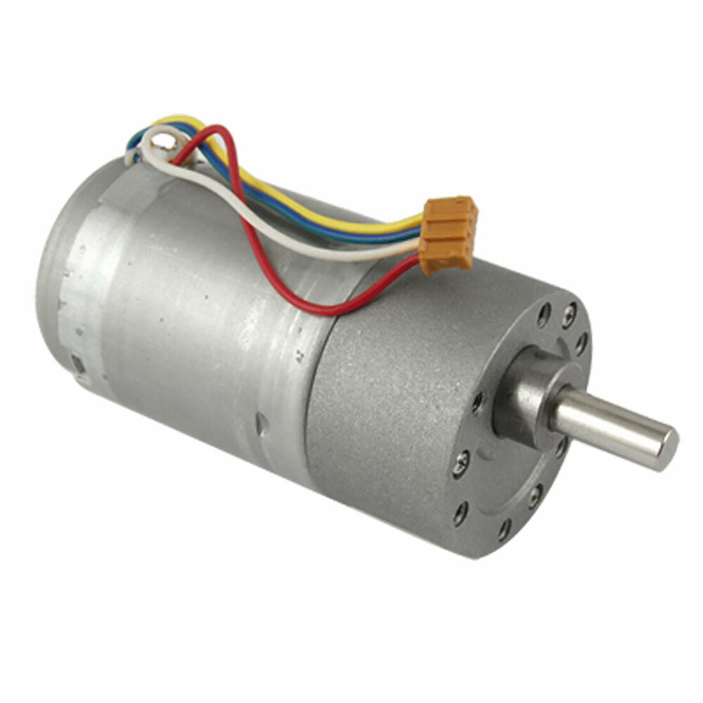 200rpm 12v High Torque Electric Dc Geared Motor 37mm