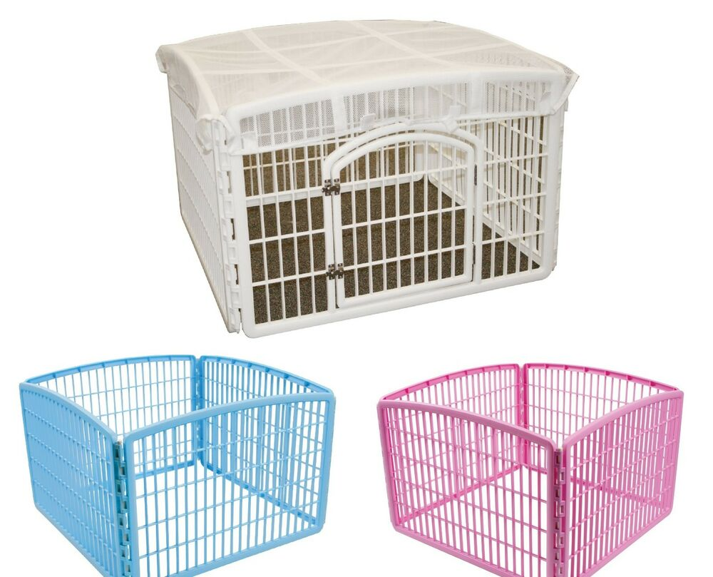 Delightful DOG PLAY PEN Iris Indoor Outdoor Puppy Cage Exercise Kennel .