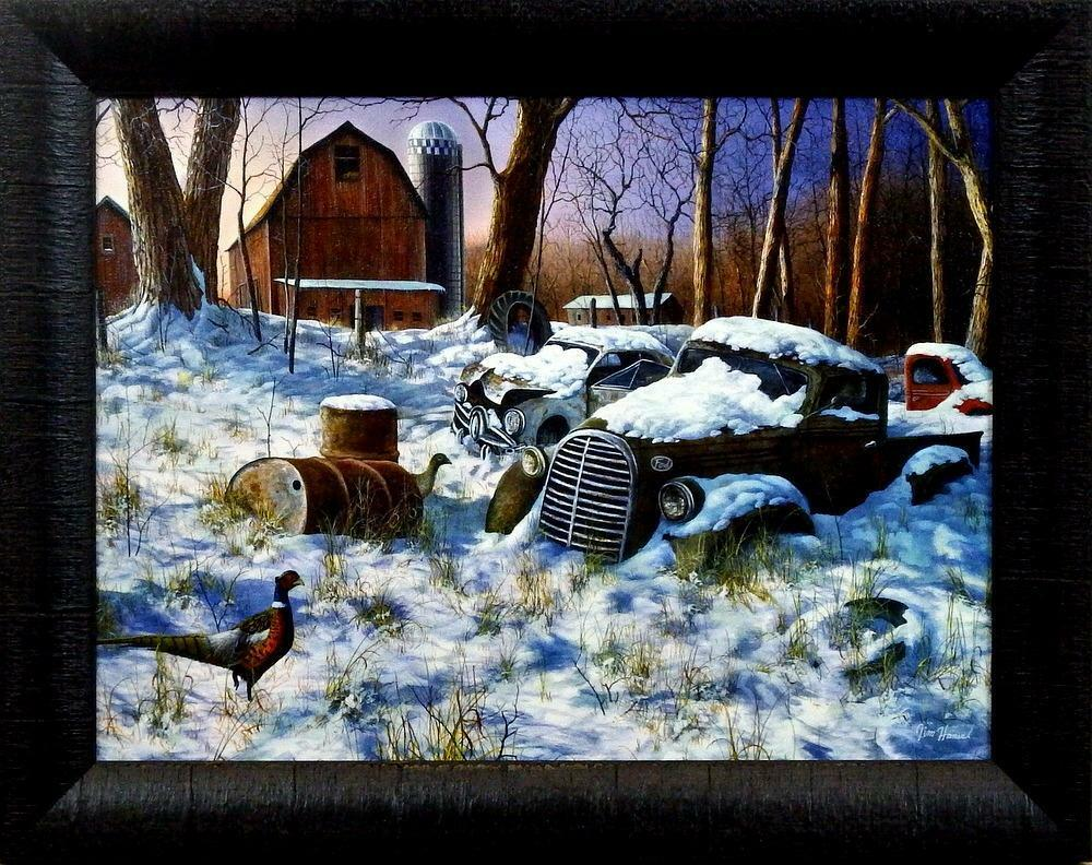 Jim Hansel Quot Winter Haven Quot Pheasant Studio Canvas Framed
