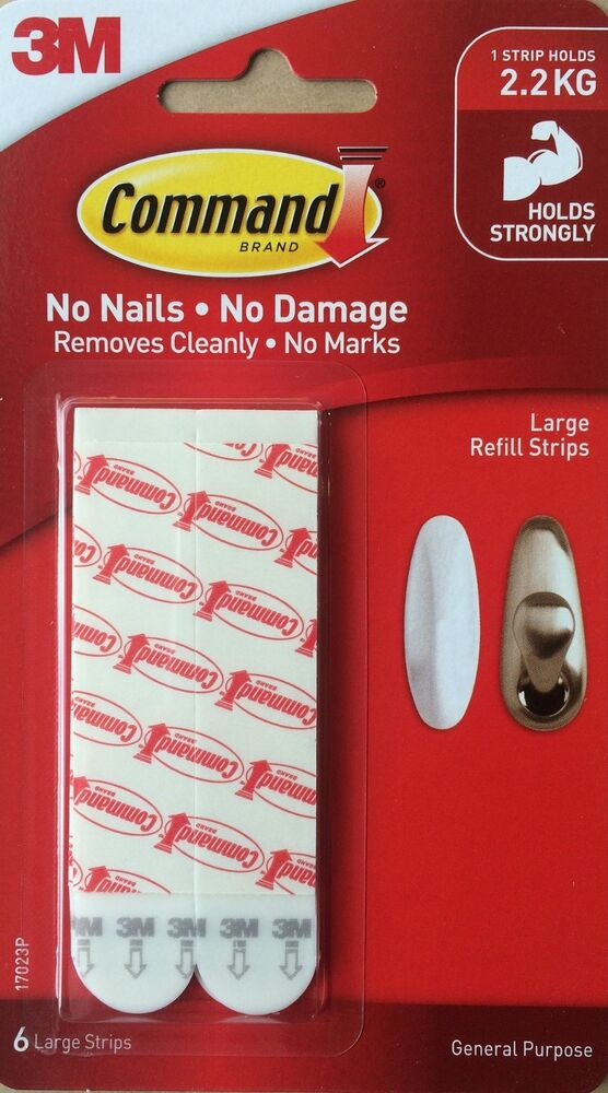 3m Command Large Refill Strips For Hooks 17023p Picture