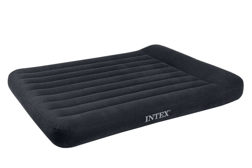 Intex Queen Classic Pillow Rest Airbed Air Mattress Bed W