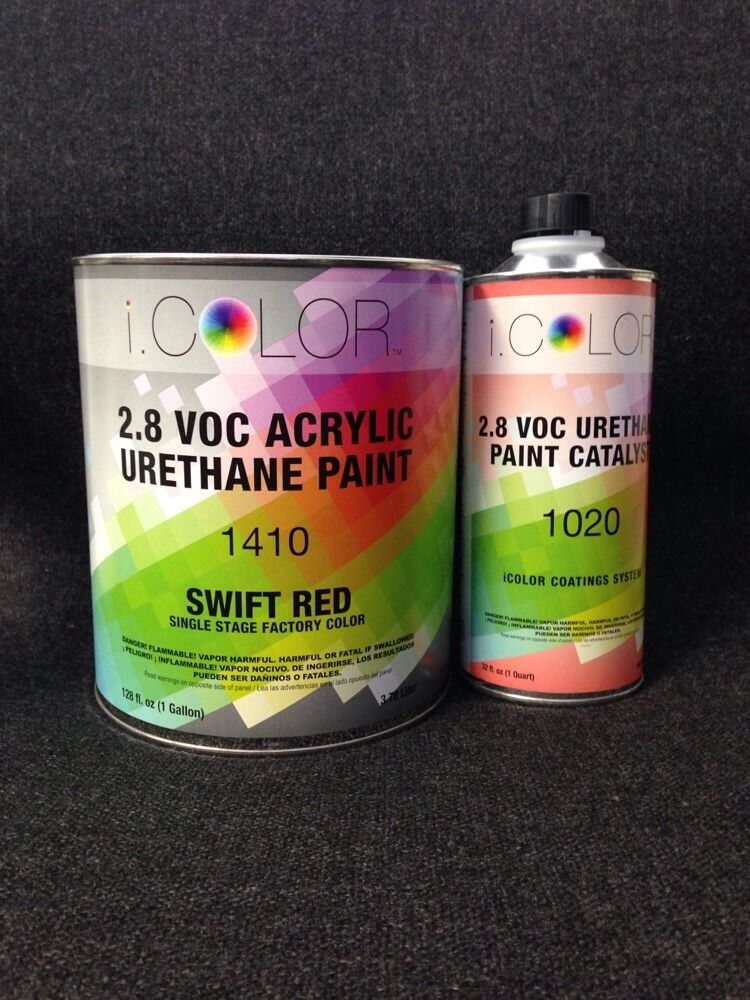 Red Gallon Kit Single Stage Acrylic Urethane Auto Paint Kit Ebay