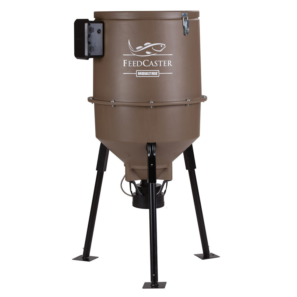 moultrie 30 gallon feedcaster pro directional tripod fish